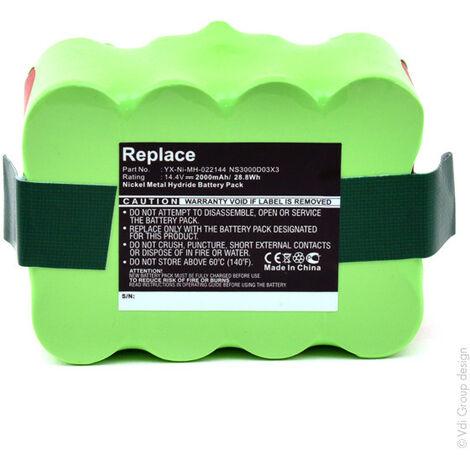 Batterie aspirateur 14.4V 2Ah - NS3000D03X3 ; YX-NI-MH-022144 ; YXNIMH022144 ; X