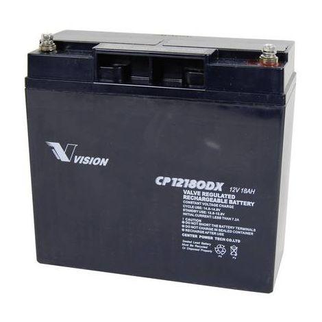Batterie au plomb 12 V 18 Ah Vision Akkus CP12180DX plomb (AGM) (l x h x p) 181 x 167 x 77 mm raccord à vis M5 sans entretien, résistant aux cycles de charge