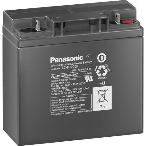 Batterie au plomb 12 V 20 Ah Panasonic sans entretien, auto-décharge réduite S167901