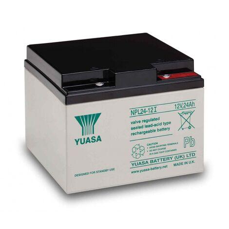 Batterie au plomb 12 V 24 Ah Yuasa NPL24-12 plomb (AGM) (l x H x P) 166 x 125 x 175 mm raccord à vis M5 sans entretien A37656