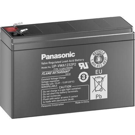 Batterie au plomb 12 V 2.6 Ah Panasonic High-Power plomb (AGM) (l x H x P) 151 x 94 x 51 mm cosses plates 6,35 mm, cosses plates 4,8 mm sans entretien V743021