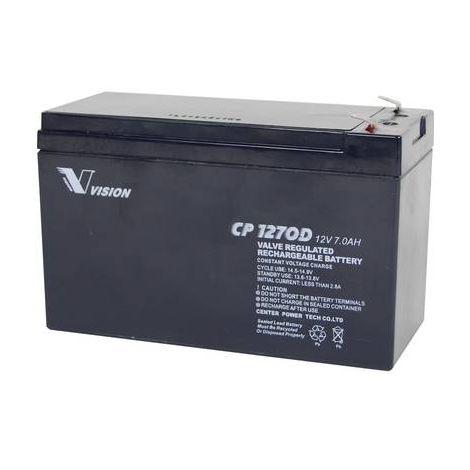 Batterie au plomb 12 V 7 Ah Vision Akkus CP1270D plomb (AGM) (l x h x p) 151 x 100 x 65 mm cosses plates 4,8 mm sans entretien, résistant aux cycles de charge