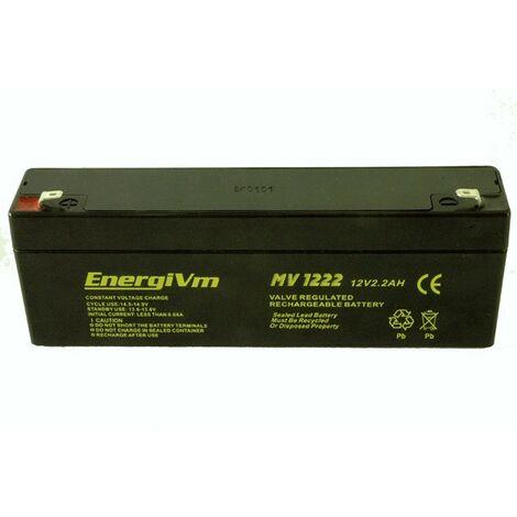 Batterie au plomb 12v 2,3ah Agm 178x35x67mm Energivm Mv1223