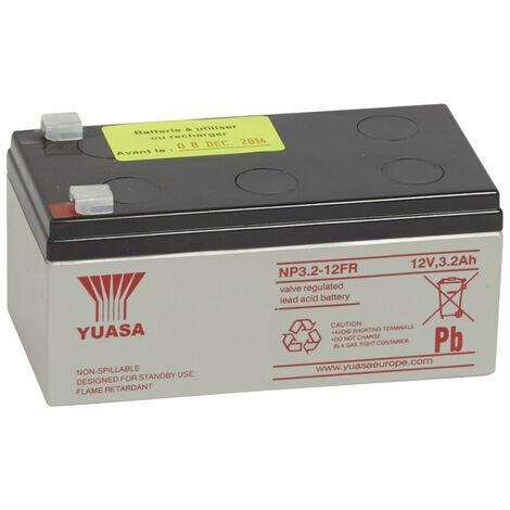 Batterie au plomb 12V 3Ah pour centralisateur de mise en sécurité incendie typeB référence 040605 (040748)