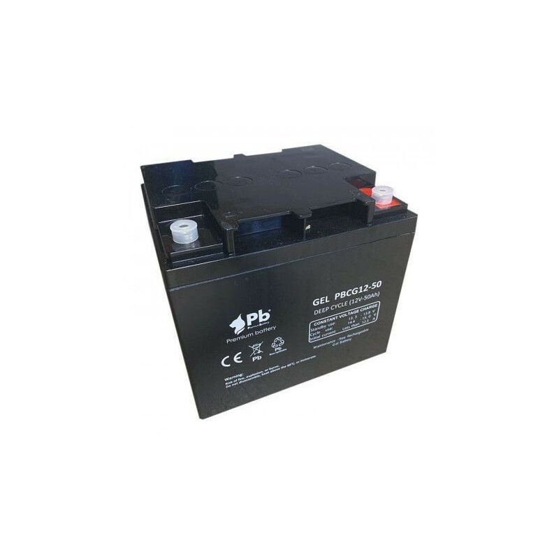 Batterie au plomb 12v 50ah cyclique pour véhicule Pbc12-50