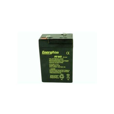 Batterie au plomb 6vdc 4,5ah Agm 70x47x100mm Energivm Mv645