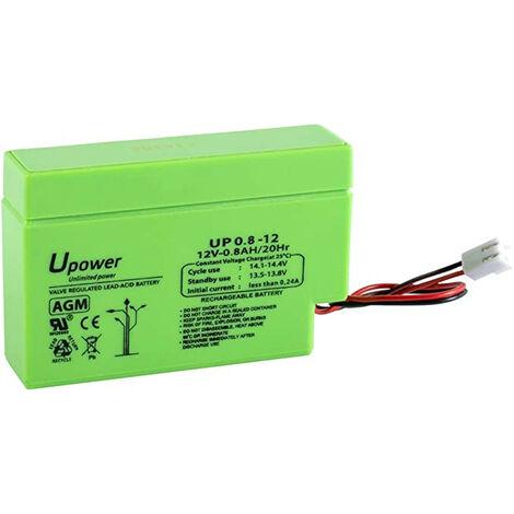 Batterie au plomb AGM 12V/0,8Ah 96x25x62mm ENERGIVM