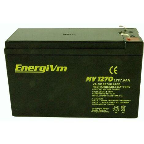 Batterie au plomb AGM 12V/7Ah 151x65x101mm 1,97Kg HQ