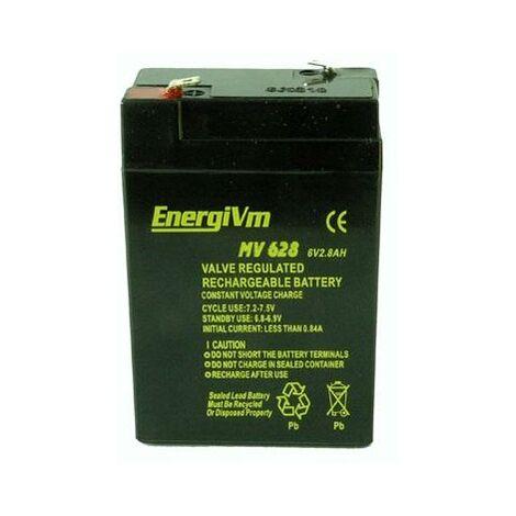 Batterie au plomb AGM 6V/2,8AH 66x34x100mm ENERGIVM