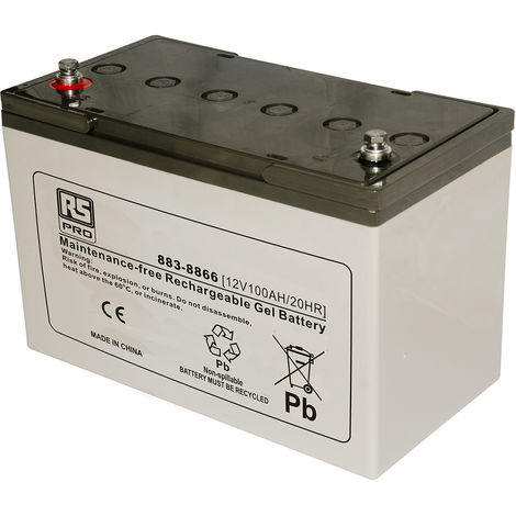 Batterie au plomb RS PRO 100Ah, 12V