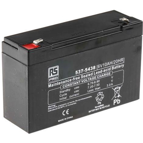 Batterie au plomb RS PRO 10Ah, 6V