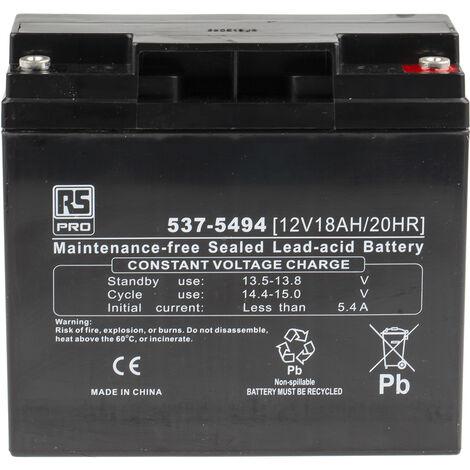 Batterie au plomb RS PRO 18Ah, 12V
