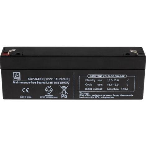 Batterie au plomb RS PRO 2.3Ah, 12V