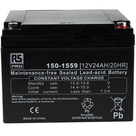 Batterie au plomb RS PRO 24Ah, 12V