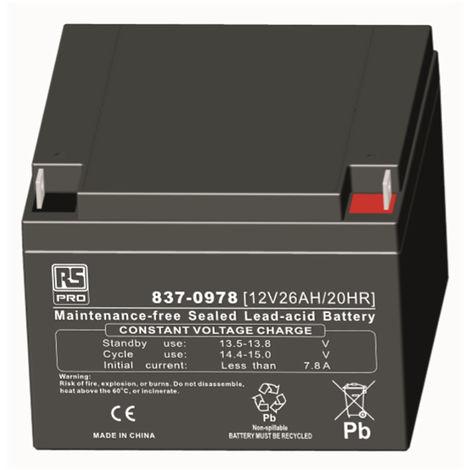 Batterie au plomb RS PRO 26Ah, 12V