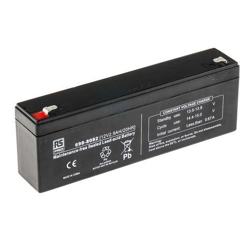 Batterie au plomb RS PRO 2.9Ah, 12V