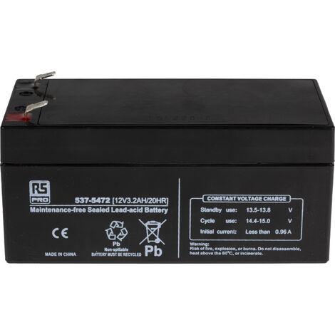 Batterie au plomb RS PRO 3.2Ah, 12V