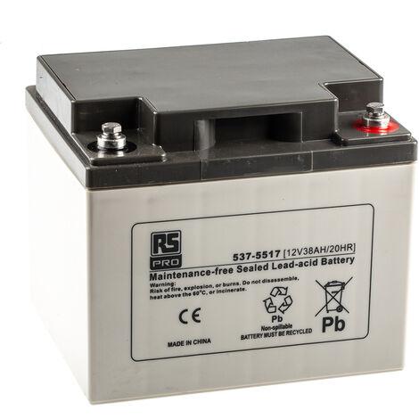 Batterie au plomb RS PRO 38Ah, 12V