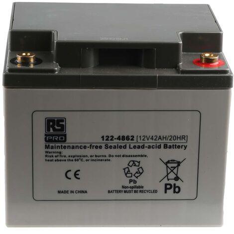 Batterie au plomb RS PRO 42Ah, 12V