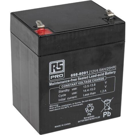 Batterie au plomb RS PRO 4Ah, 12V