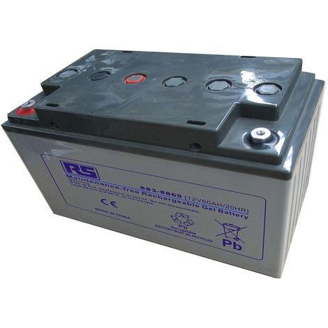 Batterie au plomb RS PRO 60Ah, 12V