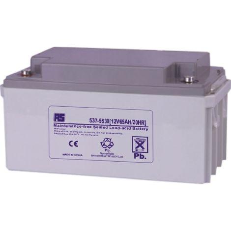 Batterie au plomb RS PRO 65Ah, 12V