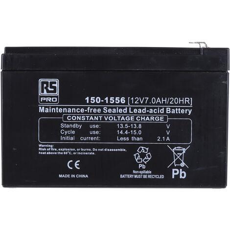 Batterie au plomb RS PRO 7Ah, 12V
