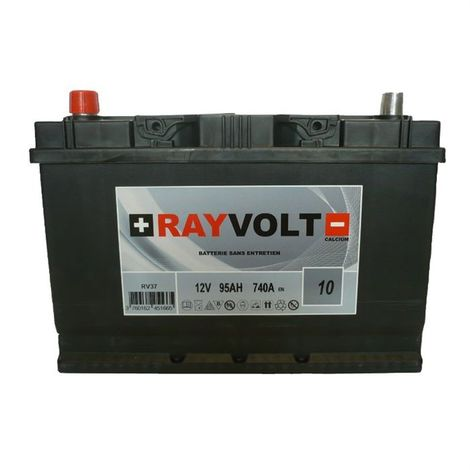 BATTERIE AUTO RAYVOLT RV37 95AH 740A