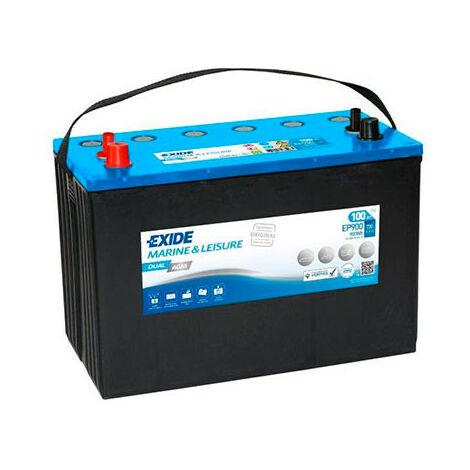 Batterie bateau EXIDE Dual AGM EP900 (900Wh) 12V 100Ah Auto
