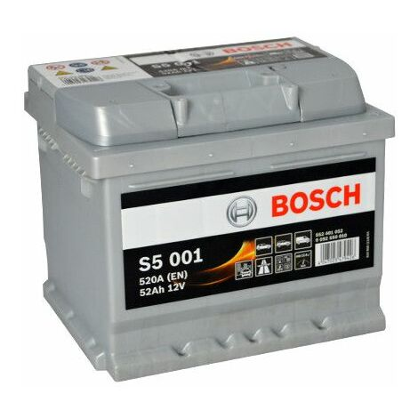 Batterie Bosch S5 001 12v 52ah 520A 552 401 052