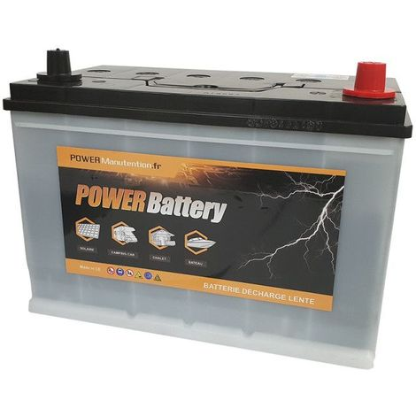 Batterie camping car décharge lente 12v 110ah