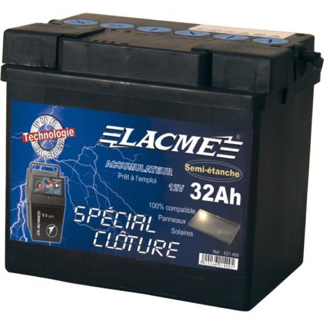 Batterie clôture 12V 32Ah - Lacmé
