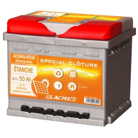 Batterie clôture 12V 50Ah - Lacmé