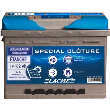 Batterie clôture 12V 62Ah - Lacmé