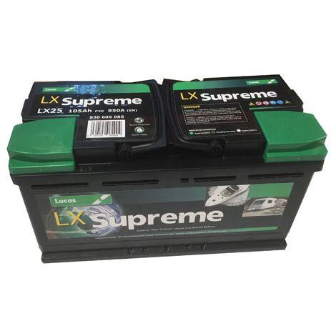 Batterie de démarrage Loisirs/Camping-cars Lucas Dual Purpose L5 LX25 12V 105Ah / 850A