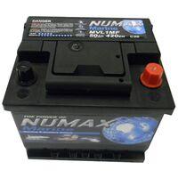 Batterie de démarrage Loisirs/Camping-cars Numax Marine LB1 MVL1MF 12V 50Ah / 420A