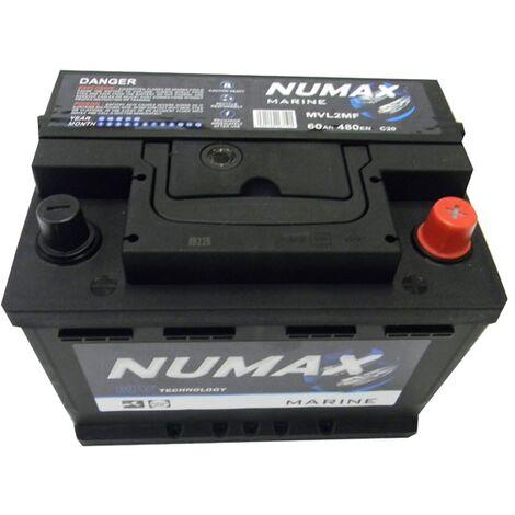 Batterie de démarrage Loisirs/Camping-cars Numax Marine LB2 MVL2MF 12V 60Ah / 480A