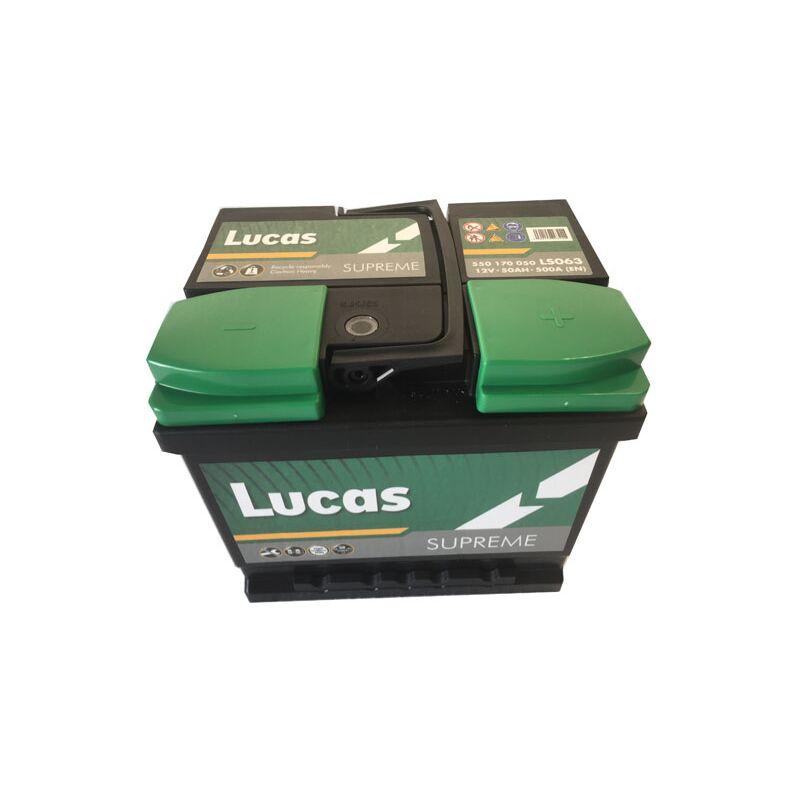 Batterie de démarrage Lucas Supreme LB1 LS063 12V 50Ah / 500A