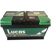 Batterie de démarrage Lucas Supreme LB4 LS110 12V 90Ah / 800A