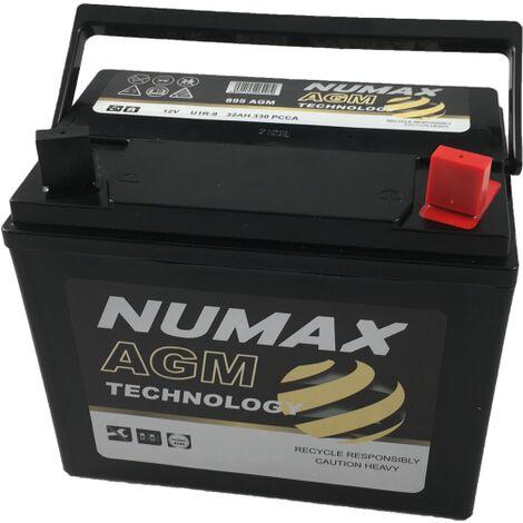 Batterie de démarrage Numax Motoculture U1R9 895AGM 12V 32Ah / 350A + DROITE