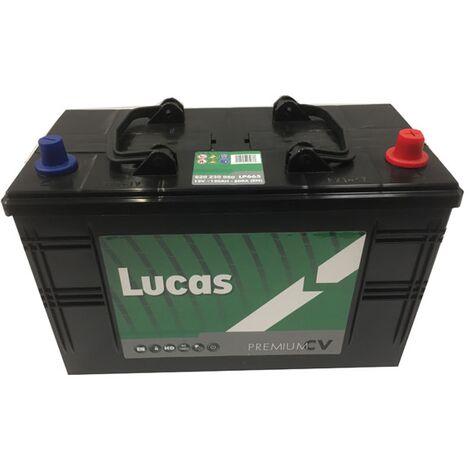 Batterie de démarrage Poids Lourds et Agricoles Lucas Premium C13D / LOT7 LP665 12V 120Ah / 800A