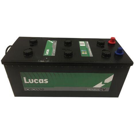 Batterie de démarrage Poids Lourds et Agricoles Lucas Premium DIN B/B15D LP623 12V 143Ah / 850A