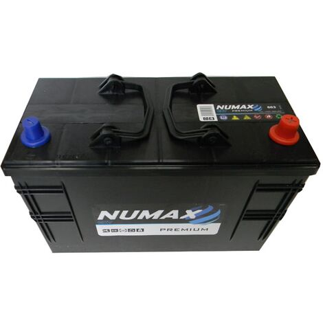 Batterie de démarrage Poids Lourds et Agricoles Numax Premium TRUCKS C13D / LOT 7 663 12V 110Ah / 800A