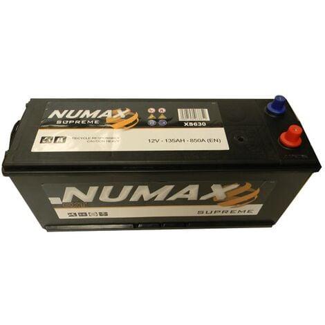 Batterie de démarrage Poids Lourds et Agricoles Numax Supreme TRUCKS D14G XS630 12V 135Ah / 850A