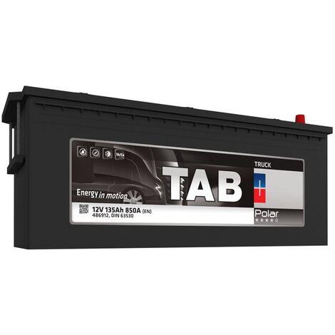 Batterie de démarrage Poids Lourds et Agricoles TAB Polar Truck A TR13A 12V 135Ah 850A