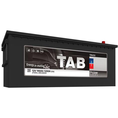 Batterie de démarrage Poids Lourds et Agricoles TAB Polar Truck B15G / B TR19 12V 190Ah 1200A