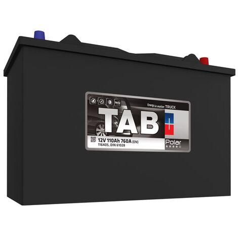 Batterie de démarrage Poids Lourds et Agricoles TAB Polar Truck C13DT/ LOT7 TR11P 12V 110Ah 800A