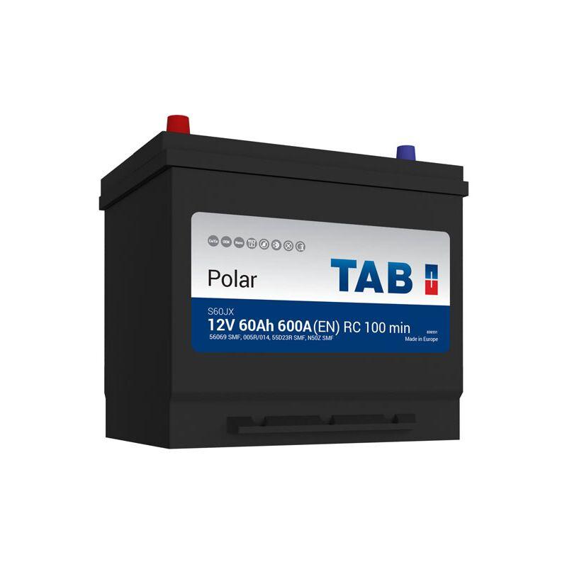 Batterie de démarrage TAB Polar S D23R S60JX 12V 60Ah 500A