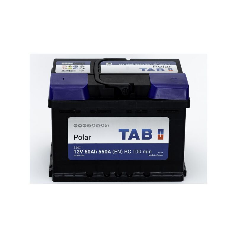 Batterie de démarrage TAB Polar S L2B S60X 12V 60Ah 500A