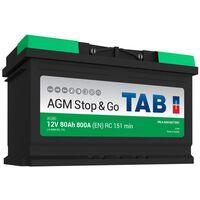 Batterie de démarrage TAB Start&Stop AGM L4 AG80 12V 80Ah 800A